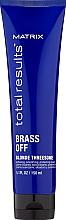 Perfumería y cosmética Crema suavizante, alisadora y protectora, protege la fibra capilar contra daño térmico - Matrix Total Results Brass Off Blonde Threesome