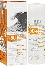 Perfumería y cosmética Crema solar eco con aceite de macadamia y extracto de granada resistente al agua para pieles sensibles SPF50 - Eco Cosmetics Surf & Fun Extra Waterproof Sunscreen SPF 50+
