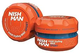 Perfumería y cosmética Cera moldeadora de cabello con aroma a frutas tropicales, fijación firme - Nishman Hair Styling Wax 02 Sport