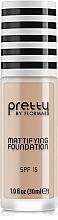 Perfumería y cosmética Base de maquillaje para pieles mixtas y grasas, efecto mate SPF 15 - Flormar Pretty Mattifying Foundation