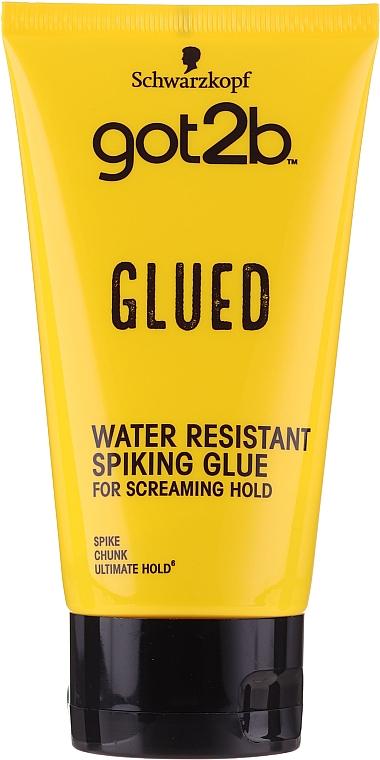Gomina moldeladora de cabello, resistente al agua - Schwarzkopf Got2b Glued Spiking Glue