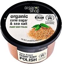 Perfumería y cosmética Exfoliante corporal espumoso de azúcar de caña orgánica y sal marina - Organic Shop Foamy Body Scrub Organic Cane Sugar & Sea Salt