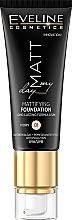 Perfumería y cosmética Base de maquillaje hidratante efecto mate con extracto de granada & algas, SPF 10 - Eveline Cosmetics Matt My Day Mattifying Foundation