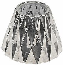 Perfumería y cosmética Portavela de cristal para velas medianas - WoodWick Geometric Silver Shade