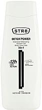 Perfumería y cosmética Gel de ducha para rostro, cuerpo y cabello con carbón activo - STR8 Detox Power Intensive Cleansing Shower Gel