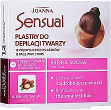 Perfumería y cosmética Bandas de cera depilatoria faciales con aceite de argán - Joanna Sensual Depilatory Face Strips