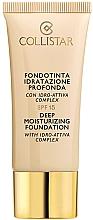 Perfumería y cosmética Base de maquillaje fluida hidratante de larga duración con efecto brillante para pieles secas - Collistar Deep Moisturizing Foundation SPF15