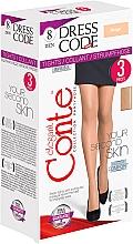 Perfumería y cosmética Pantis Dress Code, 8 Den, 3 uds, beige - Conte
