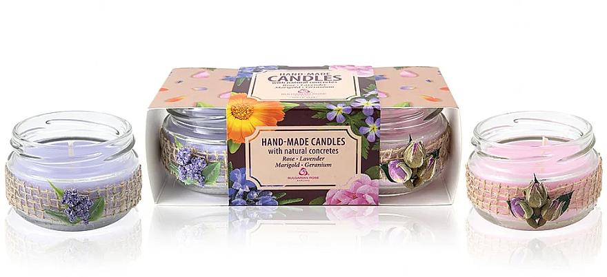 Set velas aromáticas, 2 uds. - Bulgarian Rose Candle Set