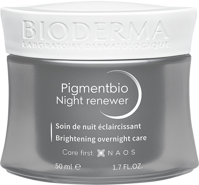 Crema para rostro y cuello con vitamina C, E y PP - Bioderma Pigmentbio Night Renewer Brightening Overnight Care