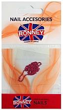 Perfumería y cosmética Cadena para uñas, 00378 dorado-rosa - Ronney Professional
