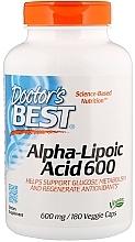 Perfumería y cosmética Complemento alimenticio en cápsulas ácido alfa-lipoico 600, 600 mg - Doctor's Best Alpha Lipoic Acid