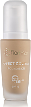 Perfumería y cosmética Base de maquillaje de larga duración y cubertura máxima con aceite de almendra, SPF 15 - Flormar Perfect Coverage Foundation