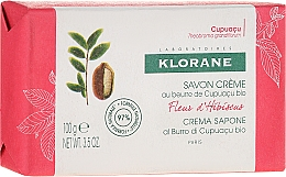 Perfumería y cosmética Jabón cremoso con manteca orgánica de cupuaçu, aroma a hibisco - Klorane Cupuacu Hibiscus Flower Cream Soap