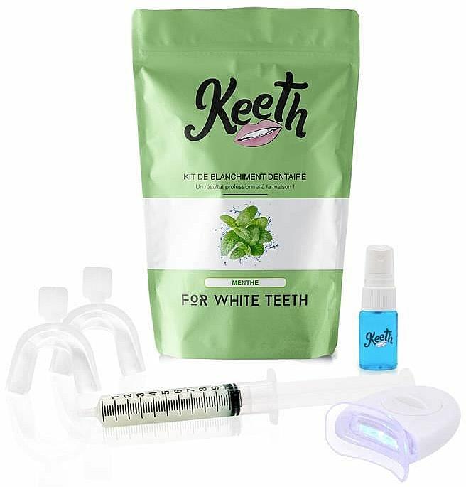 Kit de blanqueamiento dental con sabor a menta - Keeth Mint Teeth Whitening Kit