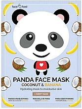 Perfumería y cosmética Mascarilla facial infantil de tejido con extracto de plátano y coco - 7th Heaven Face Food Panda Face Mask Coconut & Banana
