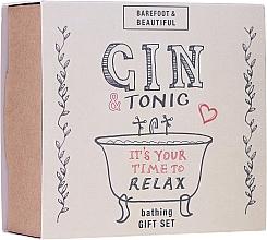 Perfumería y cosmética Set (lip/balm/15g + bath/soak/60ml + bath/salt/60g) - Bath House Barefoot & Beautiful Gin and Tonic Bathing Gift Set
