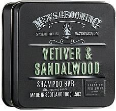 Perfumería y cosmética Champú sólido con aceite de cáñamo y proteína de trigo, aroma a sándalo - Scottish Fine Soaps Mens Grooming Vetiver & Sandalwood Shampoo Bar