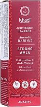 Perfumería y cosmética Aceite para cabello fortificante con extracto de amla, vegano - Khadi Ayuverdic Strong Amla Hair Oil