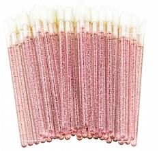 Perfumería y cosmética Aplicadores para pestañas, cejas y labios de terciopelo brillante, rosa - Lewer