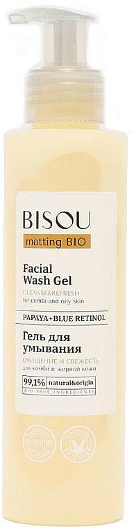 Gel natural de limpieza facial con papaya y retinol - Bisou Matting Bio Facial Wash Gel