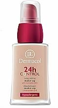 Perfumería y cosmética Base de maquillaje hipoalergénica de larga duración con conezima Q10 - Dermacol 24h Control Make-Up