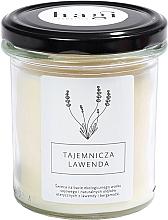 Perfumería y cosmética Vela de soja con aroma a lavanda y bergamota en tarro de cristal - Hagi