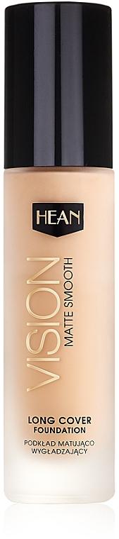 Base de maquillaje profesional alisante con efecto mate y aceite de argán - Hean Vision Matte Smooth Foundation