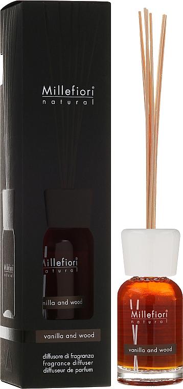 Ambientador Mikado, vainilla y sándalo - Millefiori Milano Natural Diffuser Vanilla & Wood — imagen N1