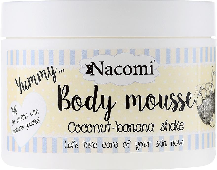 Mousse corporal con karité y aceite de argán, aroma a plátano y coco - Nacomi Body Mousse Coconut-Banana Shake