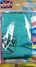 Perfumería y cosmética Capa de peluquría profesional, azul - Ronney Professional Hairdressing Apron Azure