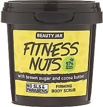 Perfumería y cosmética Exfoliante corporal natural con azúcar moreno y manteca de cacao - Beauty Jar Firming Body Scrub, Fitness Nuts