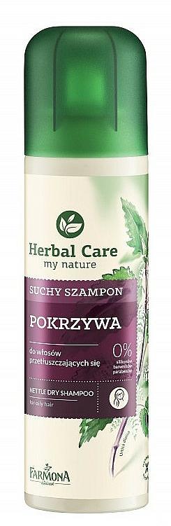 Champú seco con extracto de ortiga 0% siliconas y parabenos - Farmona Herbal Care Shampoo