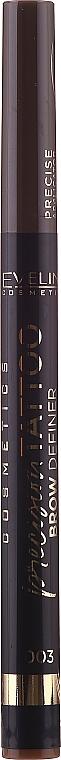 Delineador de cejas resistente al agua - Eveline Cosmetics Precision Tattoo Brow Definer (1uds.)