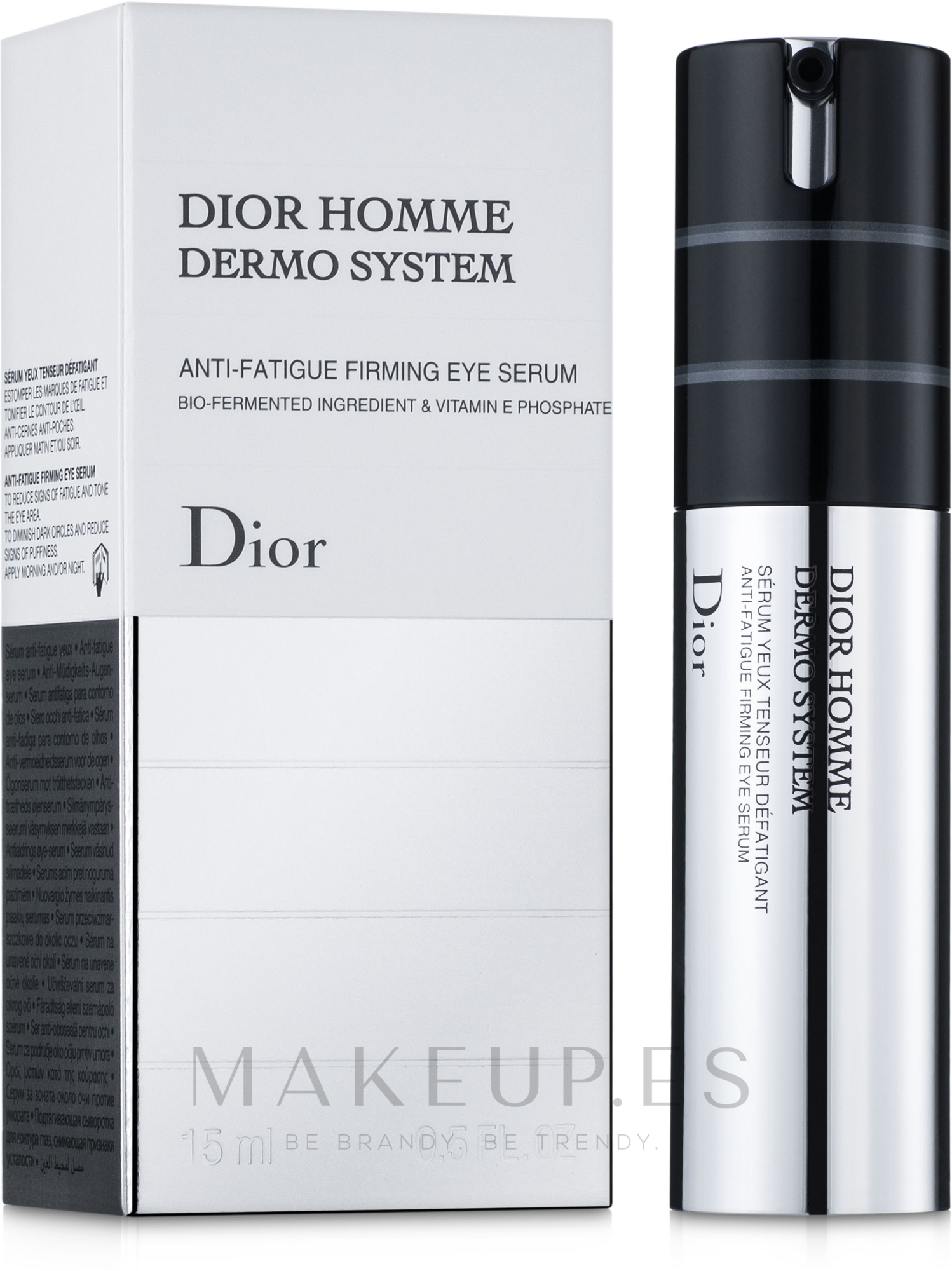 Sérum para contorno de ojos con vitamina E y extracto de avena - Dior Homme Dermo System Eye Serum 15ml — imagen 15 ml