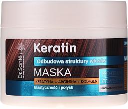 Perfumería y cosmética Mascarilla para cabello quebradizo con queratina, colágeno y arginina - Dr. Sante Keratin Mask