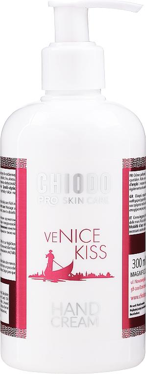 Crema de manos con ácido hialurónico, colágeno y extracto de linaza - Chiodo Pro Venice Kiss Hand Cream