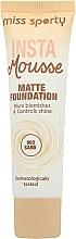 Perfumería y cosmética Base de maquillaje mousse de cobertura completa con efecto mate - Miss Sporty Insta Mousse Matte Foundation