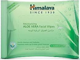 Perfumería y cosmética Toallitas húmedas desmaquillantes, pieles normales y secas - Himalaya Moisturizing Aloe Vera Facial Wipes