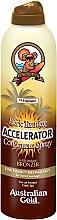 Perfumería y cosmética Spray-acelerador del bronceado con extracto de semilla de nuez - Australian Gold Dark Tanning Accelerator Continuous Spray With Instant Bronzer