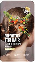 Perfumería y cosmética Mascarilla capilar de nutrición intensa con extracto de oliva - Superfood For Skin Hair Mask With Olive Cloth