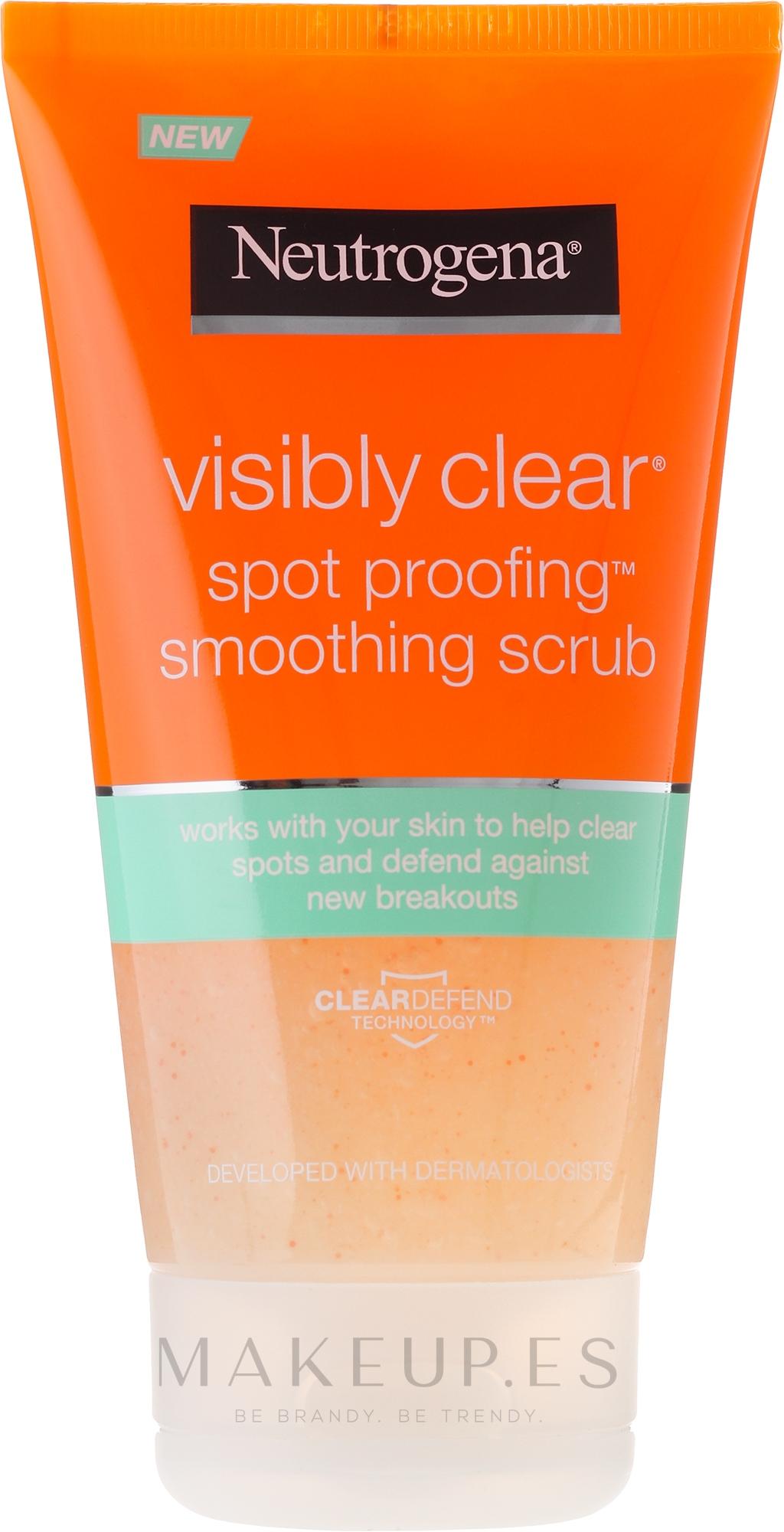 Exfoliante facial - Neutrogena Visibly Clear Spot Proofing Smoothing Scrub — imagen 150 ml