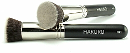 Perfumería y cosmética Brocha kabuki plana para maquillaje en polvo o fluido, efecto uniforme ''H51'' - Hakuro
