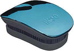 Perfumería y cosmética Cepillo de pelo desenredante - Ikoo Pocket Pacific Metallic Black