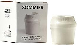 Perfumería y cosmética Soporte para cepillo dental de porcelana, blanco - NaturBrush Sommier Toothbrush Holder