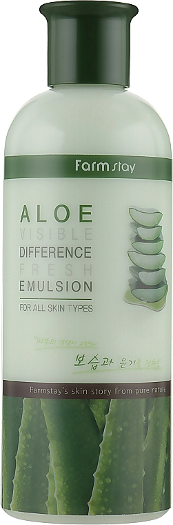 Emulsión facial con extracto de aloe vera - FarmStay Visible Difference Fresh Emulsion Aloe
