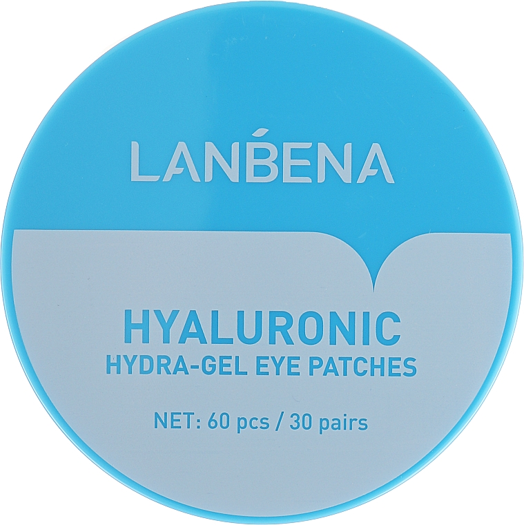 Parches para contorno de ojos de hidrogel con ácido hialurónico y colágeno - Lanbena Hyaluronic Acid Collagen Gel Moisturizing Eye Patch