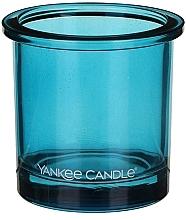 Perfumería y cosmética Portavelas de cristal azul - Yankee Candle POP Blue Tealight Votive Holder