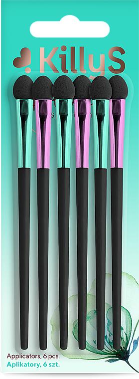Set aplicadores para sombras de ojos, largos, 6uds. - Killys Botanical Inspiration Applicators