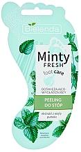 Perfumería y cosmética Exfoliante de pies refrescante con piedra pómez y extracto de menta - Bielenda Minty Fresh Foot Care Refreshing & Smoothing Foot Peeling